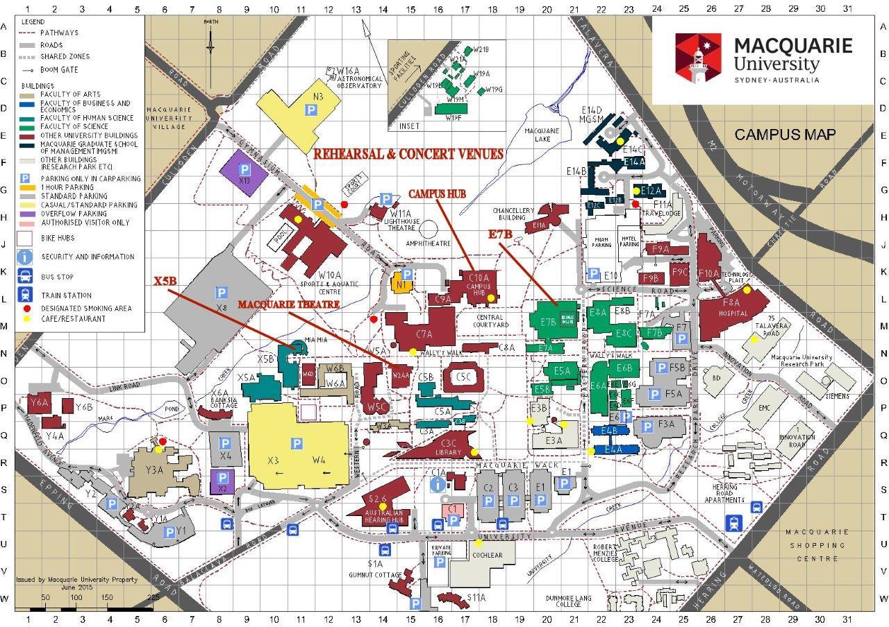 Macquarie University Campus Map